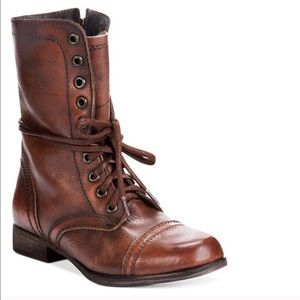 Steve Madden Troopa Brown Lace Up Boots 6